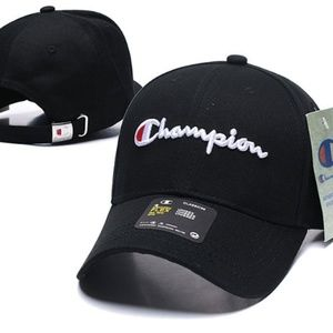 New Champion Baseball Cap Snapback Embroidery Blk